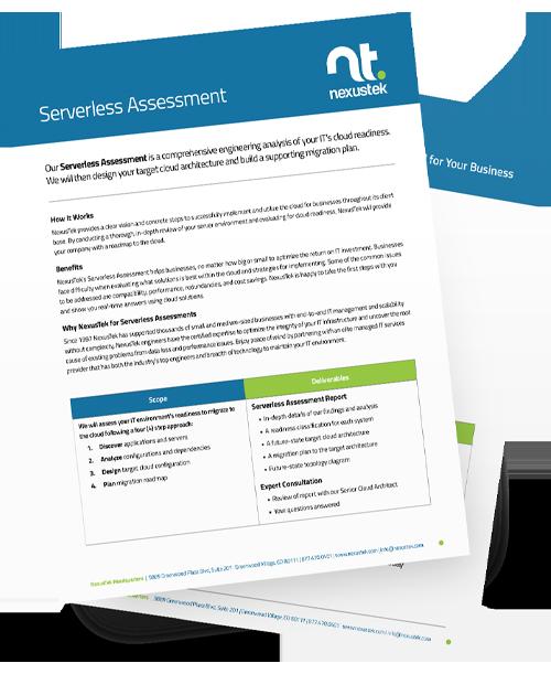 Serverless Assessment Mockup